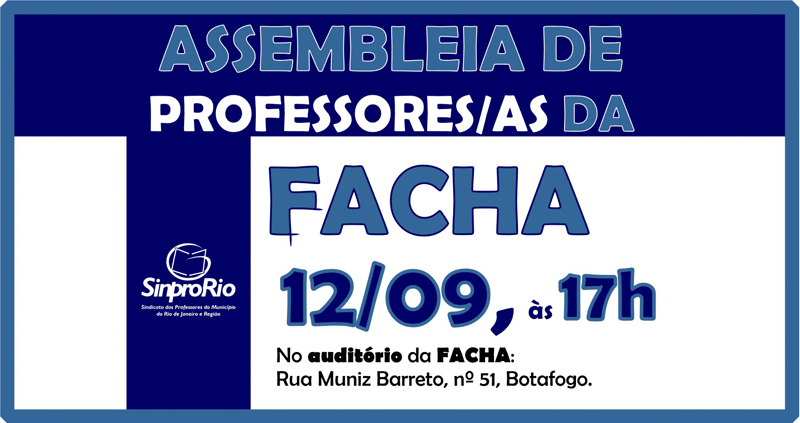 Facha: assembleia de professores/as dia 12/09